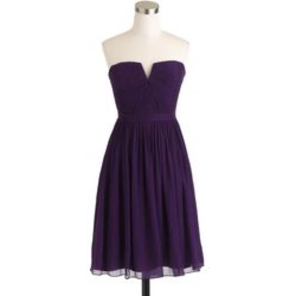 41b97e24544 J. Crew Dresses   Skirts - J.Crew Nadia Silk Chiffon Bridesmaid Dress